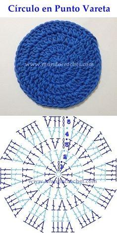 Como Tejer Un Circulo Perfecto A Crochet - Diy Crafts Crochet Motifs, Crochet Diagram, Crochet Stitches Patterns, Crochet Round, Crochet Chart, Crochet Squares, Knit Or Crochet, Crochet Doilies, Stitch Patterns