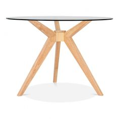 Natural Vallentuna Glass Dining Table in Natural 107cm | Cult Furniture UK