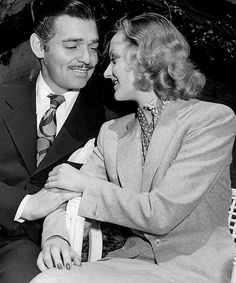 Clark Gable & Carole Lombard. Always Mom's favorite actor - and he looks so much like my Dad?