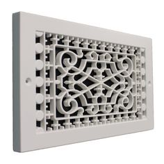 Victorian Style Base Board Grille/Vent  Customize your home with these decorative cold air returns, no more dented metal vents. Made from high strength