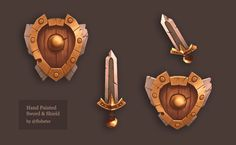 sword_and_shield___hand_painted_low_poly_by_wupto-d9l0cyj.jpg (1024×631)