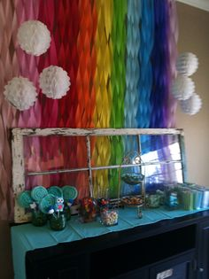 Baby shower decor, Rainbow