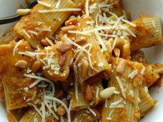 Giada has a great recipe for those who might otherwise be eggplant-averse: Rigatoni With Eggplant Puree #summerfest