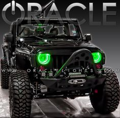 JK ORACLE Halo Kit - many colors available + color shift upgrade as seen at SEMA - way cool Jeep Jeep!