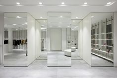 mirrors in master closet to feel roomy