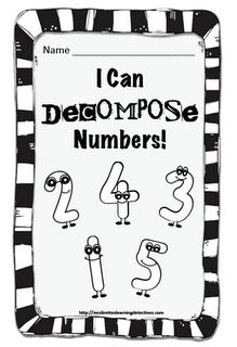 Lirette's Learning Detectives Free decomposing numbers to 5 booklet Numbers Kindergarten, Math Numbers, Decomposing Numbers, Preschool Math, Math Classroom, Fun Math, Teaching Math, Maths, Math Math
