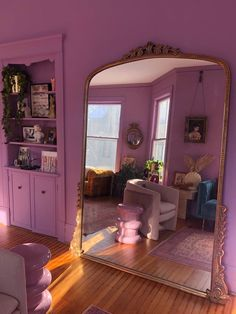 Peach Colored Rooms, Romantic Room, Pink Houses, Aesthetic Room Decor, Living Room Colors, House Rooms, Victorian Homes, My Room, Homes