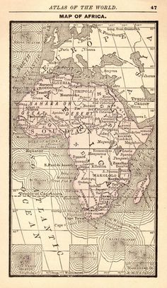 17 best india antique maps images on pinterest antique maps old 1888 antique africa map rare miniature vintage map of africa 4798 gumiabroncs Gallery