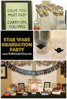 ReMarkable Homes Star Wars Graduation Party.. Instead of graduation, good idea for a birthday party for my husband.