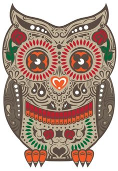 Love this, day of the dead owl tattoo