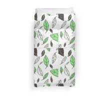 Gliding Leaves Green/Black Duvet Cover