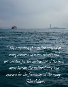 John Adams quote on education - Wednesday Words at BlissfullySouthern.com