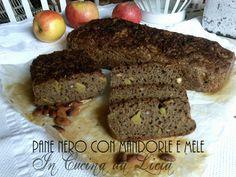 Pane nero con mandorle e mele http://blog.giallozafferano.it/incucinadalicia/pane-nero-con-mandorle-e-mele/