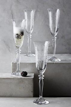 Champagne Flutes   Anthropologie  ...  For all our dazzling parties
