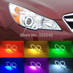 35.00$  Watch here - http://aij11.worlditems.win/all/product.php?id=32360362359 - For Subaru LEGACY 2009-2014 Excellent Angel Eyes kit Multi-Color Ultrabright 7 Colors RGB LED Angel Eyes Halo Rings