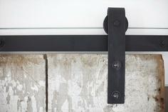 barn door hardware detail
