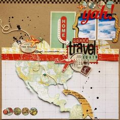 travel scrapbook layouts | Travel Layout | Travel Scrapbooking Layouts