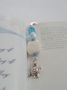 Literary Gift  Unique Beaded Metal Bookmark by VitezArtGlassDesign, $9.00