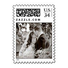 Wedding Thank You Postage Stamp http://www.zazzle.com/wedding_thank_you_postage_stamp-172615859147649216?denomination=34&rf=238194283948490074&tc=pfz #thankyou #wedding #romantic #love #weddings #engagements #postage #zazzle
