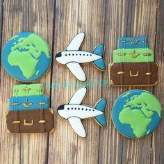 Love to travel cookie set - world traveler