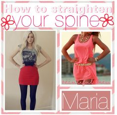 """""""How to straighten your spine♥"""" by your-tips ❤ liked on Polyvore"""