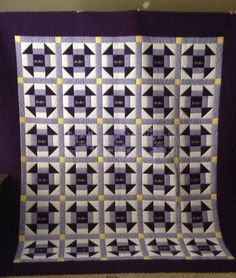 Crown Royal quilt.