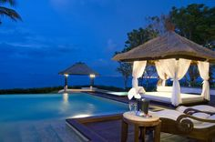 Agung, Bali it's a secluded location complimented by its own white sand beach.