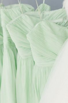 Mint Bridesmaids Dresses #mint #wedding #inspiration