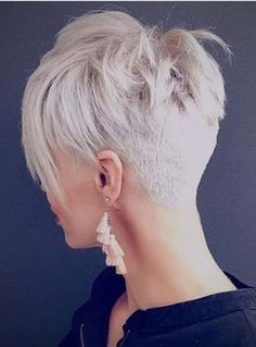 You may see here the wonderful ideas of undercut short pixie haircuts for women and girls to show off right now. This is one of the best styles among all the short pixie haircuts in year - September 14 2019 at Short Hairstyles For Thick Hair, Haircut For Thick Hair, Short Hair With Layers, Short Pixie Haircuts, Short Haircut, Curly Hair Styles, Edgy Pixie Hairstyles, Pixie Haircut Styles, Edgy Short Hair