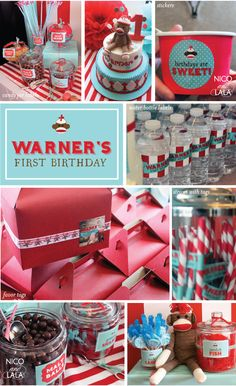 Warner's sock monkey party | Custom by Nico and Lala