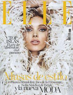 """d363bf09f869 midnight-charm  """"Elsa Hosk by Mario Sierra for Elle Spain August 2018 """""""