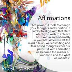 """1,275 Likes, 24 Comments - Law Of Positivism (@law_of_positivism) on Instagram: """"Repeating and feeling the vibration of affirmations and mantras can have amazing impact on our…"""""""