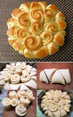 pretty bread.  Will have to try this for a party sometime.