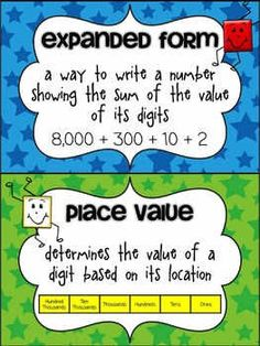 Math posters for place value   FREE!