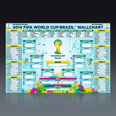 GOTTA get this for DJ!  FIFA World Cup 2014™ Wall Chart Poster