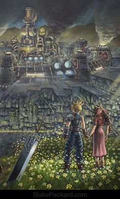 Video Game Oil Paintings - Final Fantasy VII
