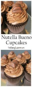 Nutella Bueno Cupcakes - The Baking Explorer - If you love Nutella you will lov. - Nutella Bueno Cupcakes – The Baking Explorer – If you love Nutella you will love these chocola - Nutella Cupcakes, Sweet Cupcakes, Nutella Birthday Cake, Biscuit Cupcakes, Nutella Frosting, Brownie Cupcakes, Vanilla Cupcakes, Mini Cupcakes, Chocolate Cupcakes Decoration