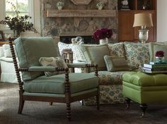 Traditional Green Living Room With a Touch of Whimsy | Ann Lowengart | HGTV