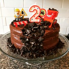 Bob the Builder construction birthday cake