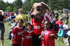 Here's Cleats the Plott Hound mascot we made for the Capital Area Soccer League! Plott Hound, Soccer League, Cleats, Action, Sports, Animals, Football Boots, Hs Sports, Group Action