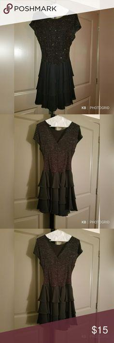 Vintage Late Edition Party Dress Shimmery, black, dress Dresses