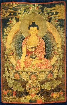 Buddha Thangka Painting. Commission reproductions of beautiful Buddhist art.