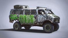 Dodge Ram 250  Racing van, just for fun.  Source image: https://stevengoodenbour.files.wordpress.com/2013/03/graffiti-van.jpg