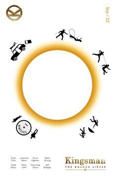 A poster for Kingsman 2 The Golden Circle #kingsman