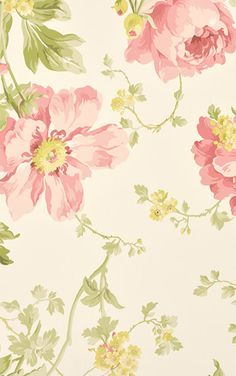 Laura Ashley / Peony Garden Cranberry LA17004 Vintage Flowers Wallpaper, Flowery Wallpaper, Wall Wallpaper, Pattern Wallpaper, Iphone Wallpaper, Laura Ashley, Bunny Painting, Printable Scrapbook Paper, Peonies Garden