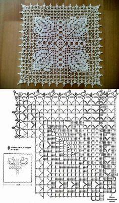 Bildergebnis für manteles con flores tejidos crochet filet