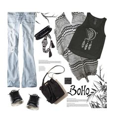 """""""Bohemian Style"""" by julesdiaries ❤ liked on Polyvore featuring moda, American Eagle Outfitters, Billabong, Golden Goose, BP., Spring Street, boho, Bohemian y bohochic"""