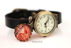 Damskie zegarek skórzany ręcznie robiony  #Ribell #MadameLili #zegarki #handmade >> Wybierz Twój na: https://www.ribell.pl/zegarki-recznie-robione-handmade