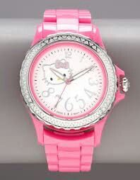 d4713a5ab3a Totally need this Hot Pink Diamond Hello Kitty watch!