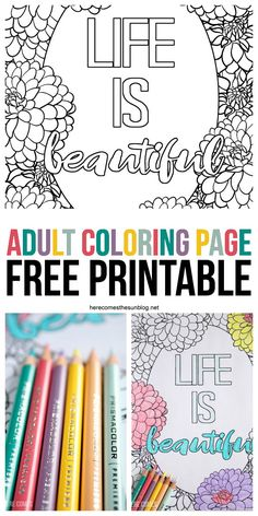 This adult coloring page is beautiful! I love the floral theme and it's a free download sponsored by @pinprismacolor & @michaelsstores.  Kick back, grab your colored pencils, relax and color #relaxandcolor ad